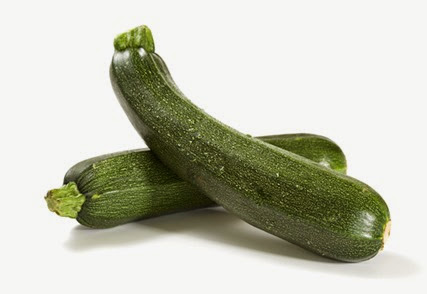 two fresh zucchini isolated