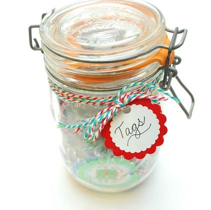 Mason Jar Gift Tag Kit - Hostess Gift Idea - The Silly Pearl