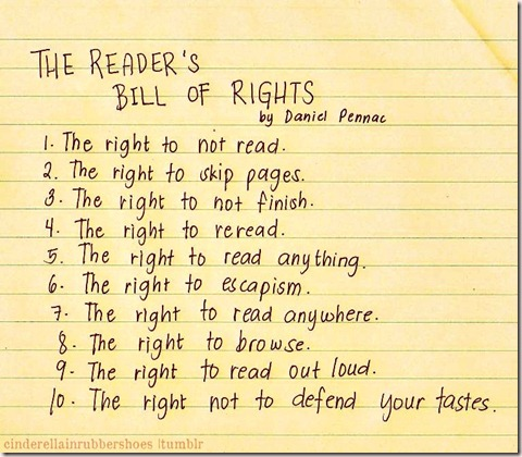 The Reader's Bill of Rights