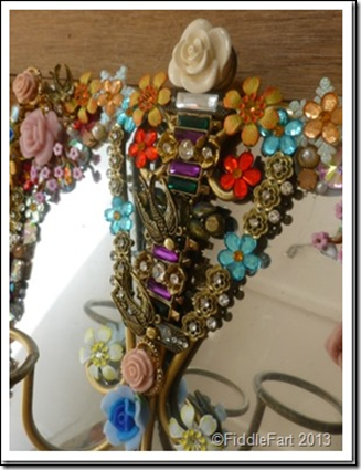 Jewelled Mirrors Upcycled 3