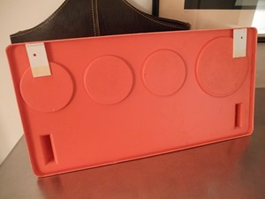 Poly Plex plastic wall organizer, orange