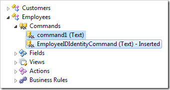 Commands that belong to Employees controller.