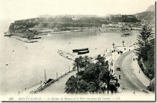 Monte-Carlo - Le Rocher de Monaco et le Port vue prise du Casino - LL237 1908-10