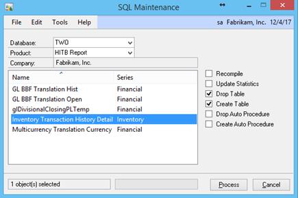 SQL Maintenance
