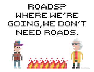Free BTTF Cross Stitch Pattern