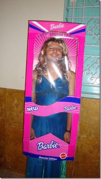 disfraz de Barbie en Caja