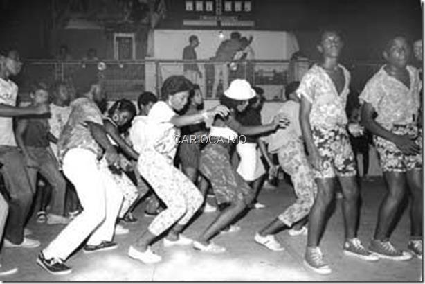 Baile funk nos anos 80.