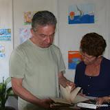 Edorta Jimenez Ormaetxea, écrivain et Ada Rosa Alfonso, conservatrice du musée Hemingway