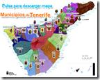 Mapa de los Municipios de Tenerife, pulsa para ampliar
