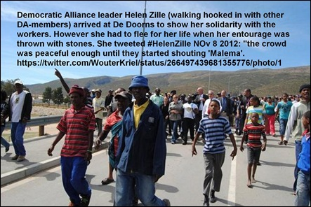 DE DOORNS ZILLE THROWN WITH STONES NOV82012