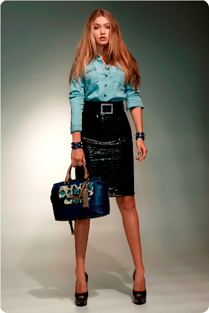 thecoloursofmycloset_GUESS Pencil Skirt