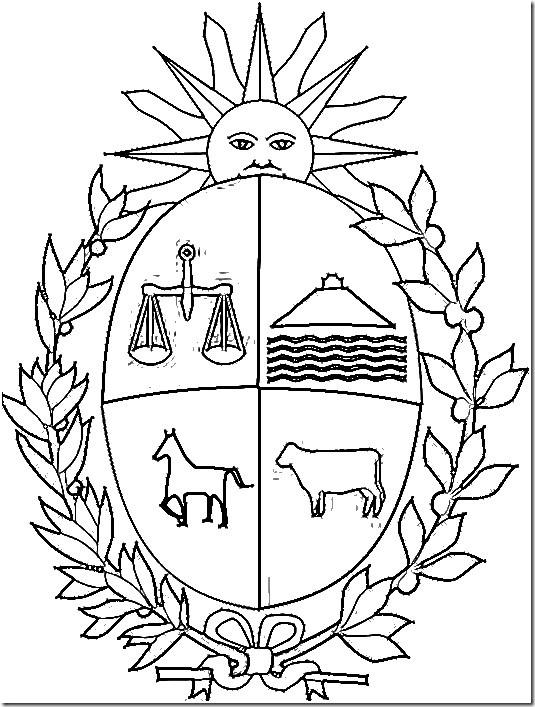 Uruguay escudo para colorear y simbolos patrios - Blog de imágenes