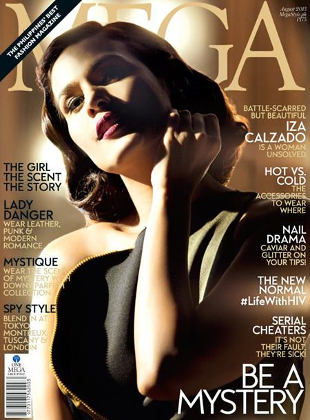 Iza Calzado on Mega Aug 2013 cover