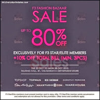 F3 Fashion Bazaar Sale 2013 Singapore Deals Offer Shopping EverydayOnSales
