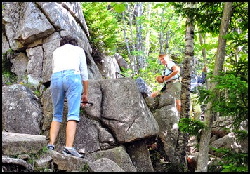 01d9 - Gorham Mtn Hike - Cadillac Cliff Trail - we climb iron rungs