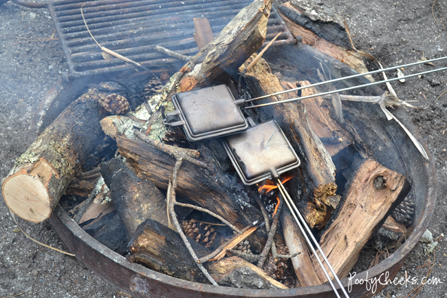 Camping Recipe - Pie Iron Pizza