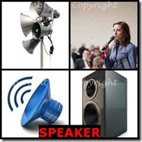 SPEAKER- 4 Pics 1 Word Answers 3 Letters