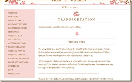project wedding information