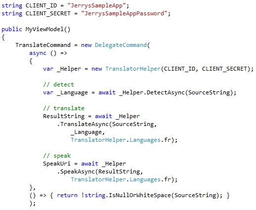 ViewModel Code