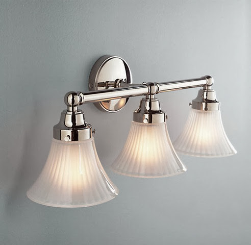 brushed nickel vanity light