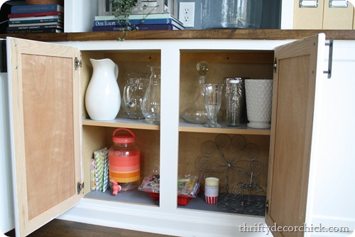 organizing serving ware