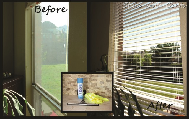 How to clean your windows like a pro. CHEAP and FAST using Sprayaway and a squeegee. www.stylewithcents.blogspot.com. Style with Cents