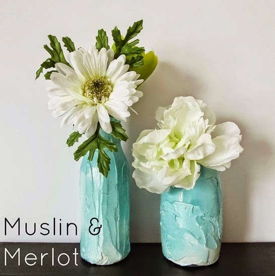 faux pottery finish for glass jars