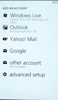 You can add all the usual accounts to the phone. Most services get aggregated in to the people hub and our mail boxes can also be unified