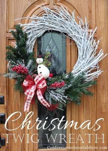 DIY-Christmas-Twig-Wreath by Confessions of a Serial DIYer