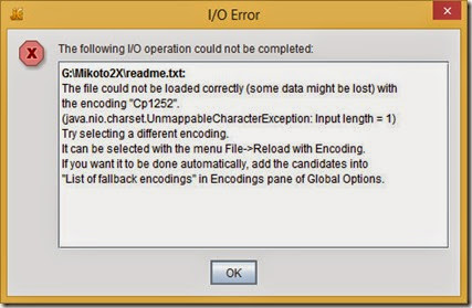 jEdit shows incorrect encoding warning