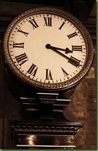 old clock in sepia