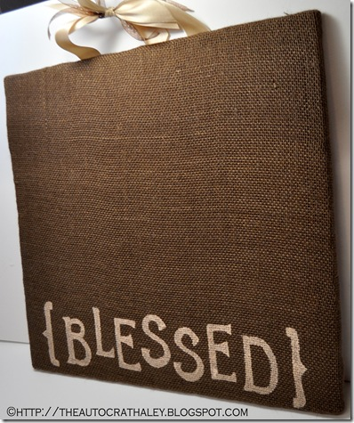 BURLAP BULLETIN BOARD