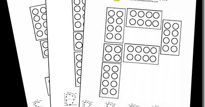FREE! Brick Style Alphabet Mats (We use with LEGO Duplo)