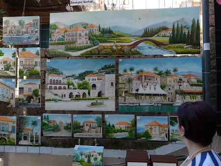 Obiective turistice Liban - arta de vanzare in Beirut.JPG