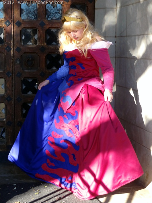Princess Aurora's Pink and Blue Gown  (Flared Skirt)