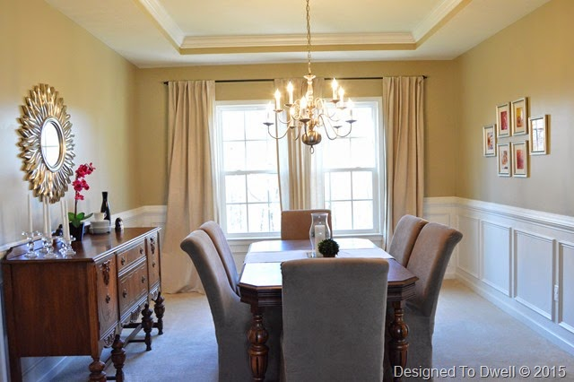 Neutral Glam Dining Room