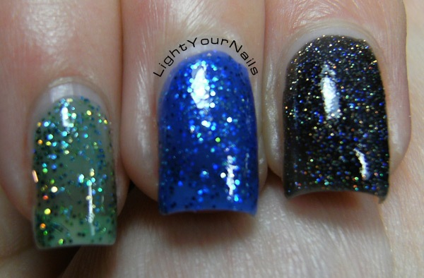 Kiko Digital Emotion, Illusion Green (441), Electron Blue (440), Techno Black (442)