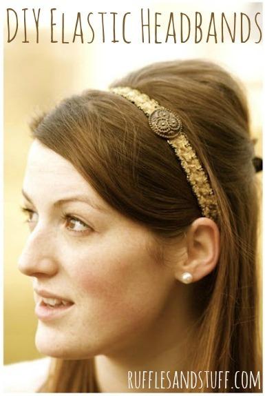 DIY Elastic Headbands by Ruffles and Stuff
