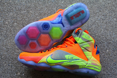 nike lebron 12 gr orange silver yellow 2 02 A Detailed Look at the Orange / Volt Nike LeBron 12 Nerf