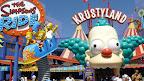 La nouvelle attraction du parc Universal Studios Hollywood : the Simpsons Ride, qui se passe dans le parc d'attraction au rabais de notre ami Krusty.