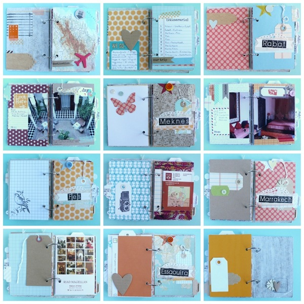 cafe creativo - Anna Drai - big shot sizzix - mini album - travel journal (5)