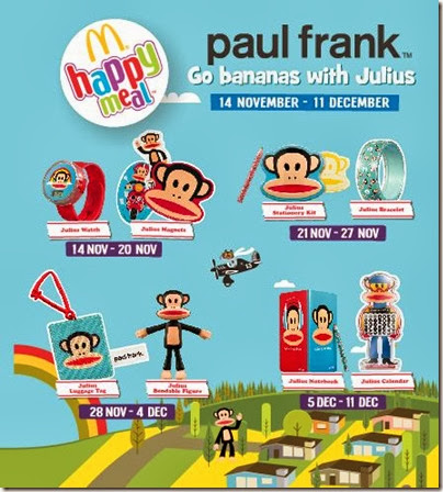 McDonalds happy meal X paul frank - Go Banana with Julius 01