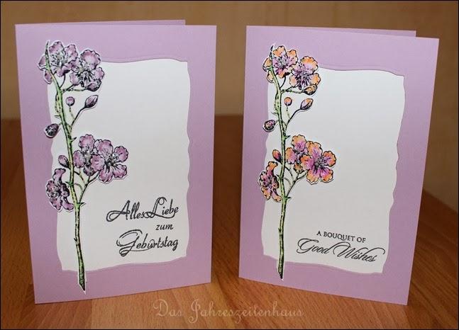 Grußkarte handgemacht Blüte 5