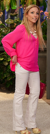 Shoshanna Tunic, white jeans by Completely Me by Liz Lang, also sporting Yummy Tummy underneath