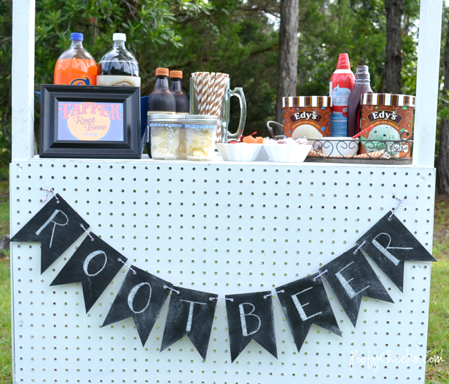Ice Cream Float Stand #wreckitralph #rootbeerfloat #party