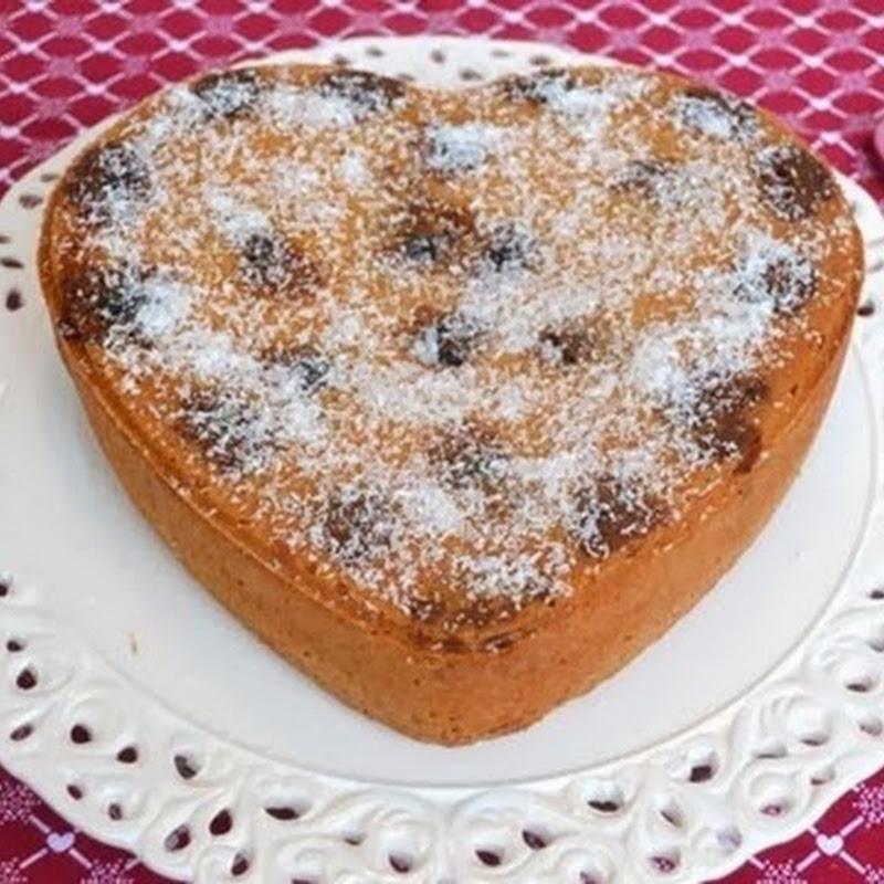 Κέικ καρύδας με κεράσια