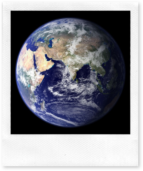 NASA blue marble photo