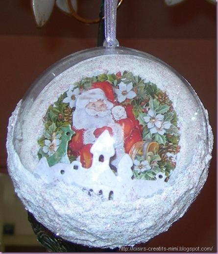 Noël, boule acrylique,  image 3D, neige, creatables, sable pailleté, boule acrylique