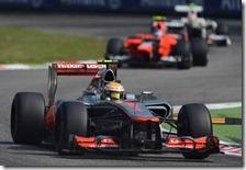 Hamilton conquista la pole del gran premio d'Italia