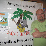 Don posing for a pic by the Music City PHINS club banner. Hi Don and many thanks for visiting Nashville to play for us!
